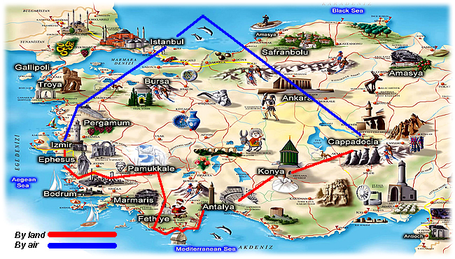 turkish delight tour map